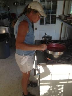 Marsha making jam