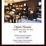 Join Francine Gardner at Intérieurs Open House in Greenwich, November 15th - 6pm!