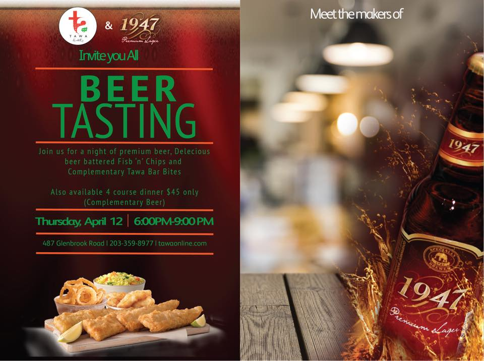 Taste the Indian Craft Beer at Tawa Indian Cuisine