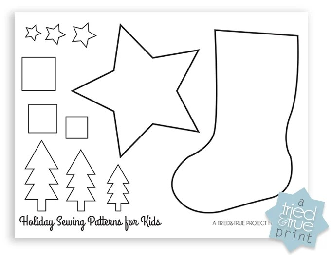graphic about Free Printable Christmas Sewing Patterns called Xmas Stocking Sewing Routine Printable