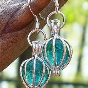 Handmade Earrings Recycled Vintage Mason Jar Silver Drop Earrings