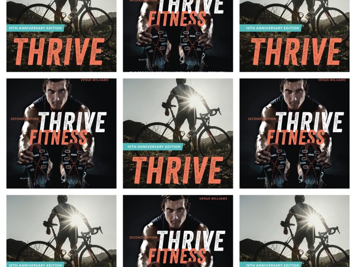 Covers of Thrive and Thrive Fitness books by Brendan Brazier