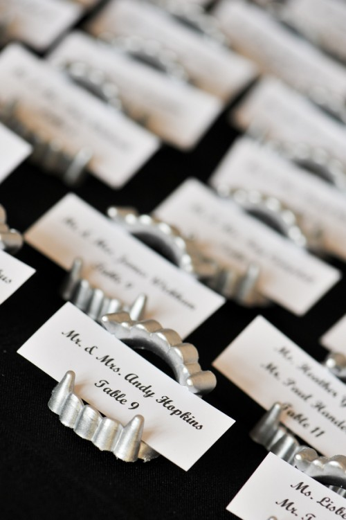 Elegant Halloween Wedding Inspiration in Black, White, and Silver (and a Touch of Quirky) - Fairly Southern