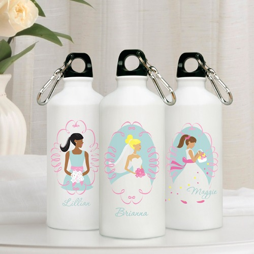 Personalized Bride/Bridesmaid Water Bottles  |  Fairly Southern