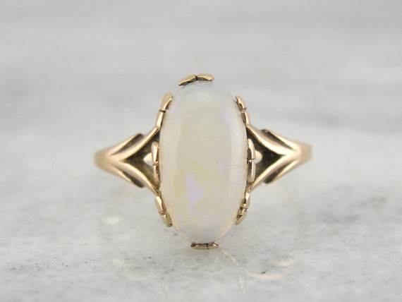 Oval Opal Engagement Ring - Fairly Southern