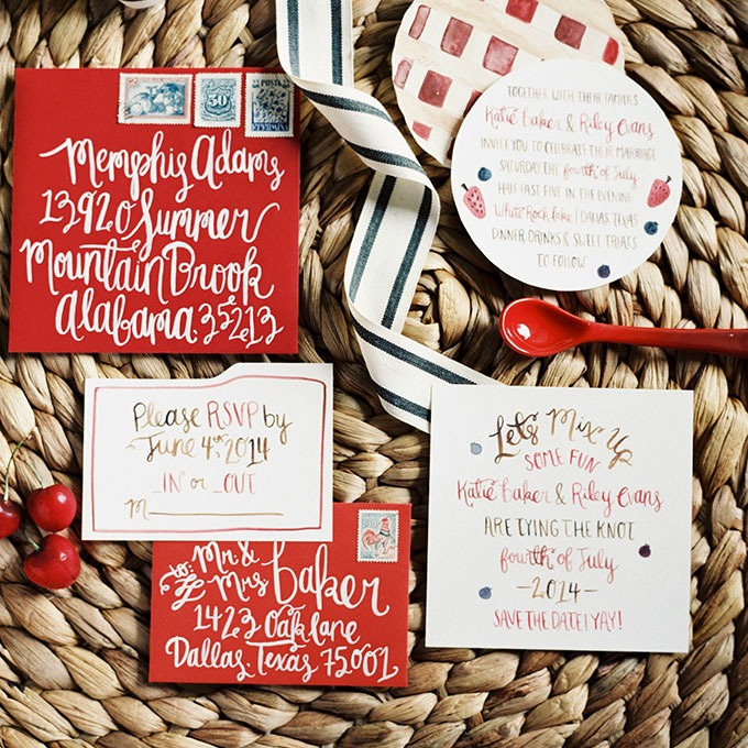 """Sweet as Pie"" Winter Wedding Stationery - Fairly Southern"