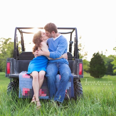 Vibrant NC Meadow Engagement Session