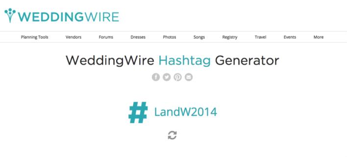 WeddingWire Hashtag Generator: Create a Personalized Wedding Hashtag! - Fairly Southern