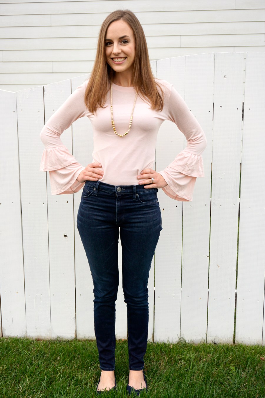 Baby Pink + Bell Sleeves