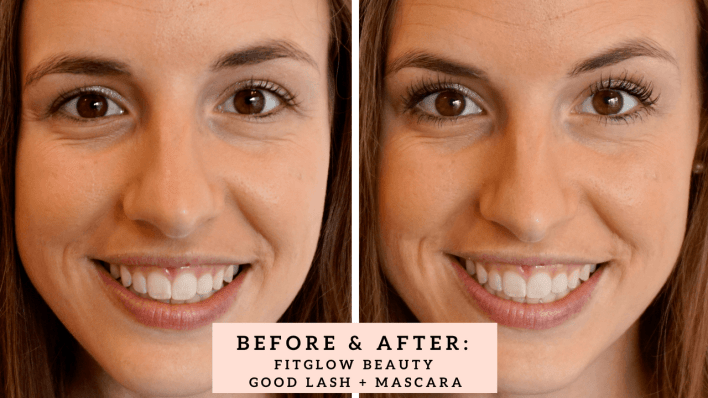 Clean Beauty Swap: Mascara. Review of Fitglow Beauty Good Lash + Mascara. Vegan, gluten free, cruelty free, toxin free! | Fairly Southern