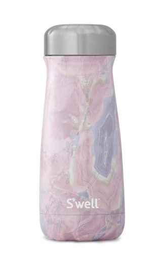 S'Well Traveler in Geode Rose - sustainable water bottle | 9 Sustainable Travel Essentials  |  Fairly SouthernS'Well Traveler in Geode Rose - sustainable water bottle | Fairly Southern