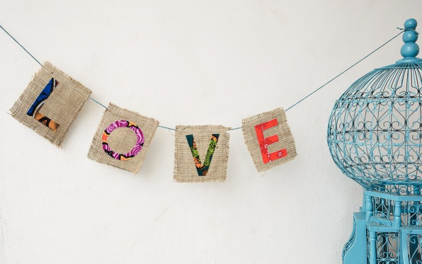 Love Banner Garland by Amani ya Juu - Fair Trade Home Goods made by artisans in Africa  |  Fairly Southern