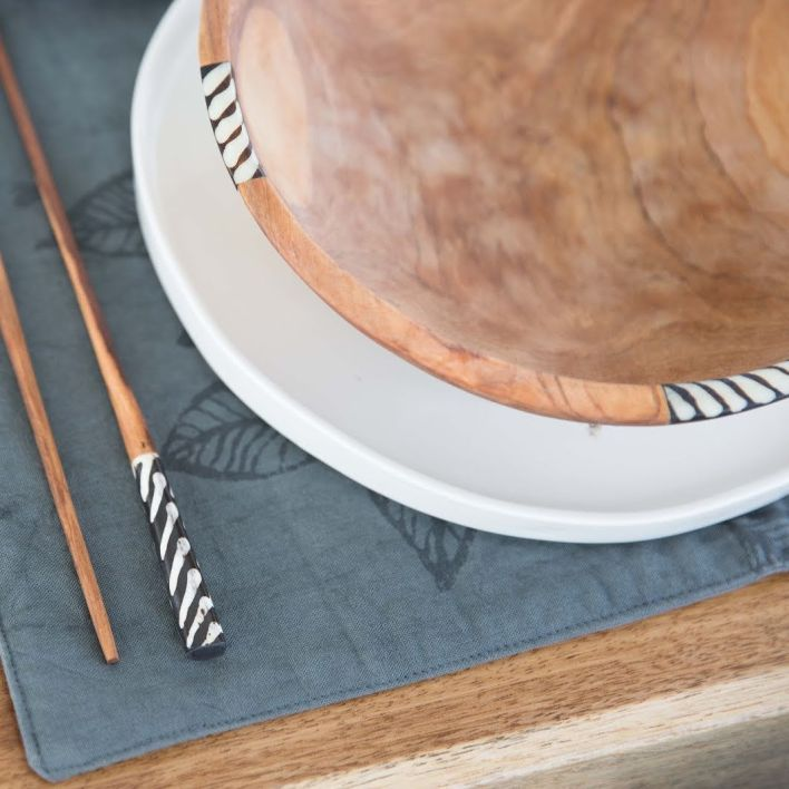 African olivewood bowl by Amani ya Juu - Fair Trade Home Goods made by artisans in Africa     Fairly Southern