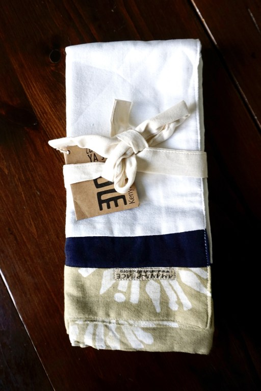 Limited tea towel set by Amani ya Juu - fair trade home goods made by artisans in Africa     Fairly Southern