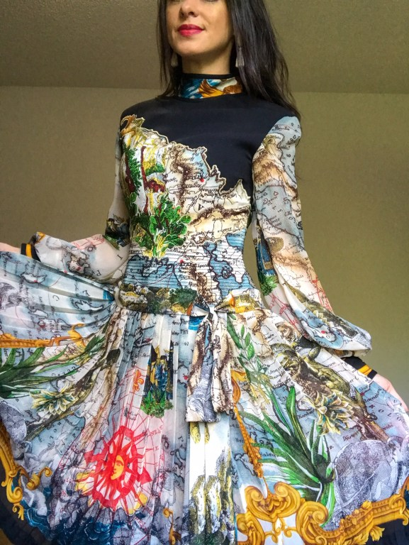 Vintage world map dress - Southerner Spotlight: Reseller Extraordinaire Holly Taylor     Fairly Southern