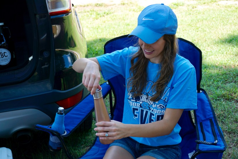 Reusable water bottle - How to Have an Eco-Friendly Tailgate - sustainable tailgating tips!  |  Fairly Southern