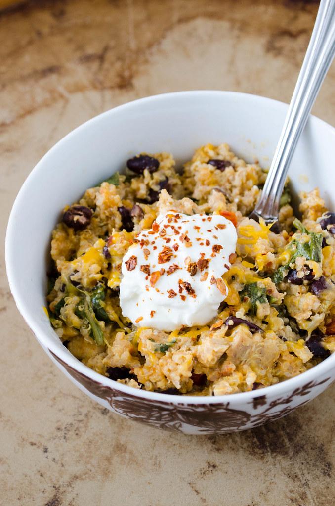 Mexican Quinoa Casserole - 10 Easy & Delicious Vegetarian Recipes  |  Fairly Southern