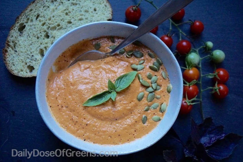 10 Minute Roasted Tomato Soup - 10 Easy & Delicious Vegetarian Recipes  |  Fairly Southern
