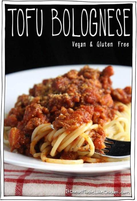 Tofu Bolognese - 10 Easy & Delicious Vegetarian Recipes  |  Fairly Southern