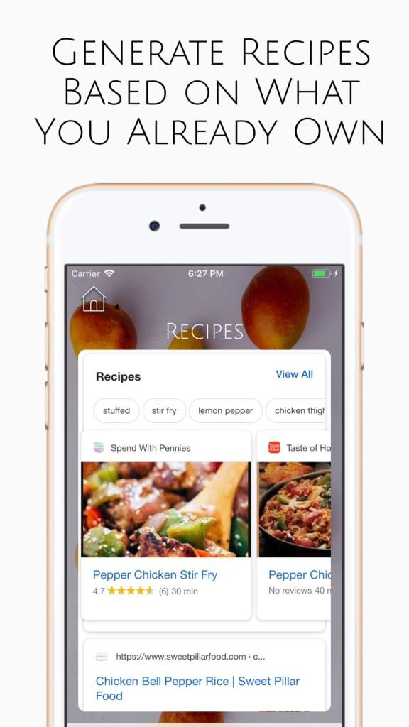 Food Companion app recipe feature - This App Helps You Reduce Food Waste: Review of the Food Companion App  |  Fairly Southern