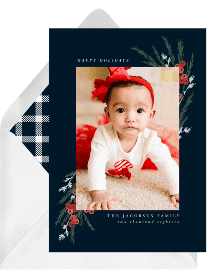 Evergreen Boughs Card by Greenvelope | 10 Gorgeous & Sustainable Holiday Greeting E-Cards | Fairly Southern