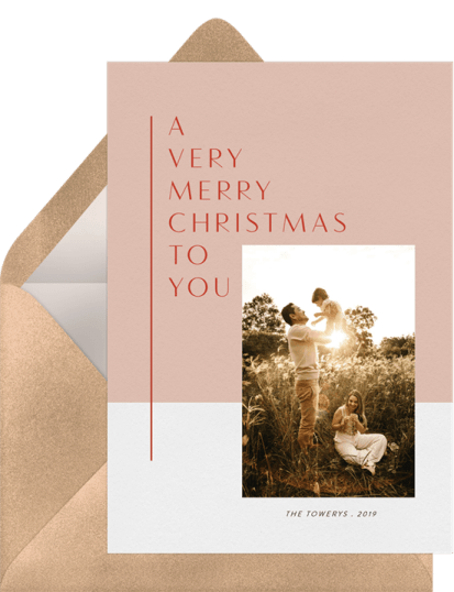 Merry Minimalist Card by Greenvelope | 10 Gorgeous & Sustainable Holiday Greeting E-Cards | Fairly Southern
