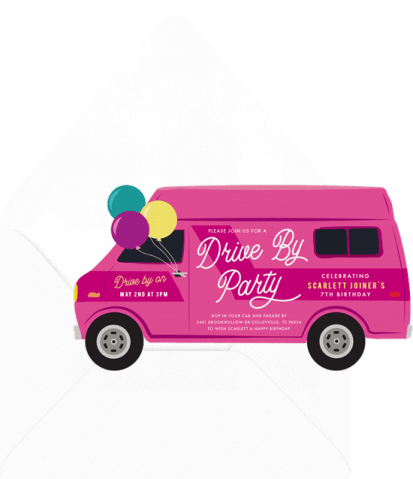 Drive By Party invitation by Greenvelope | Fairly Southern