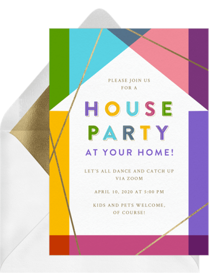 House Party virtual zoom invitation by Greenvelope | Fairly Southern
