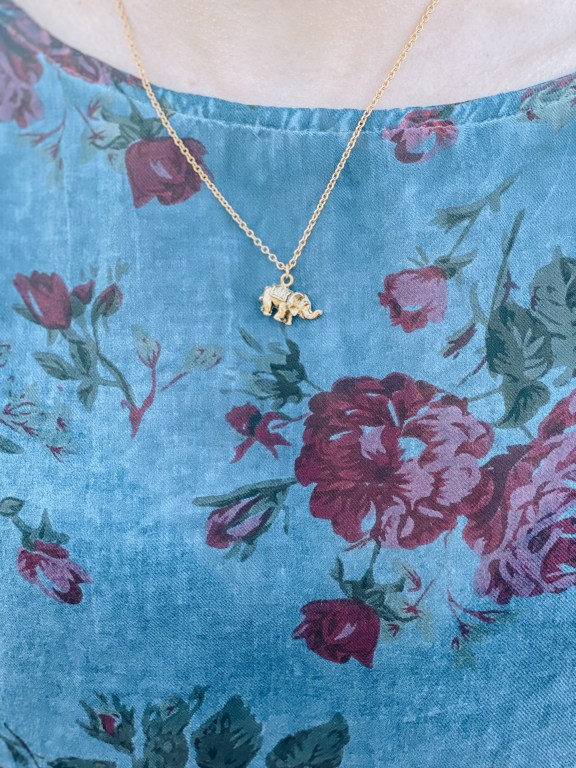 "Elephant charm necklace - ""Galentine's Day"" Ethical and Sustainable Valentine's Day Outfit 