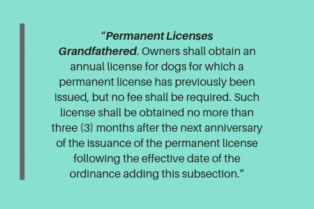 Philadelphia dog license: lifetime dog license in Philadelphia