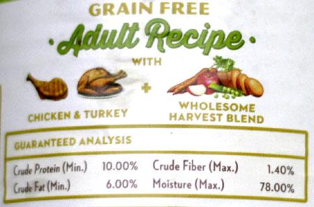 Whole Earth Farms wet dog food