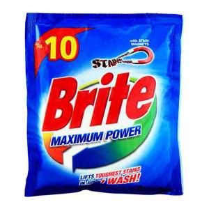 Brite maximum power washing powder