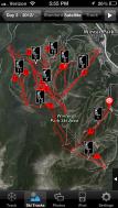 My tracks around the ski resort.