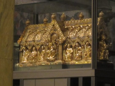 Charlemagne's remains, 1199 years after his death.