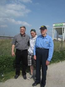 WWII vet John (r.) at the Maas.