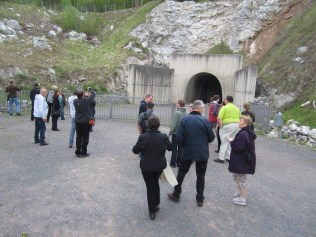 Heading into the tunnel complex. As much as I like cold weather, it's VERY COOL inside the tunnels. Wish I had my parka from the mountains.