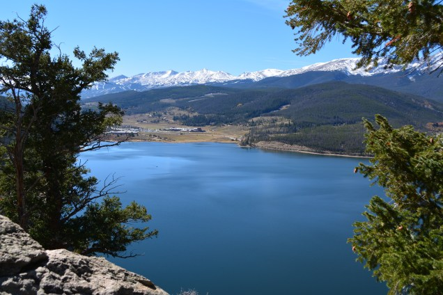 Landscape. View is the Ten Mile Range toward Breckenridge.