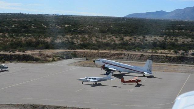 A great old DC-3 at the airport.