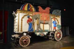 A circus wagon. The wagons, extensive minature circus, and Ringling's personal Pullman rail car are not to be missed.