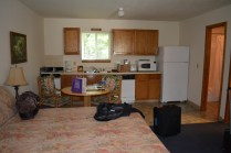 FULL kitchen, FULLY equipped for cooking and eating.