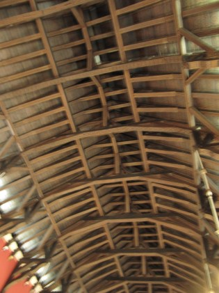 The Great Hall ceiling. No nails we're told.