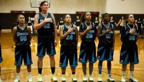6 foot 6 transwoman, 51 years, plays on a student women's basketball team. Fair Play For Women.