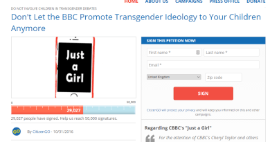 Citizen Go petition to BBC: http://citizengo.org/en/fm/38188-dont-let-bbc-promote-transgender-ideology-your-children-anymore