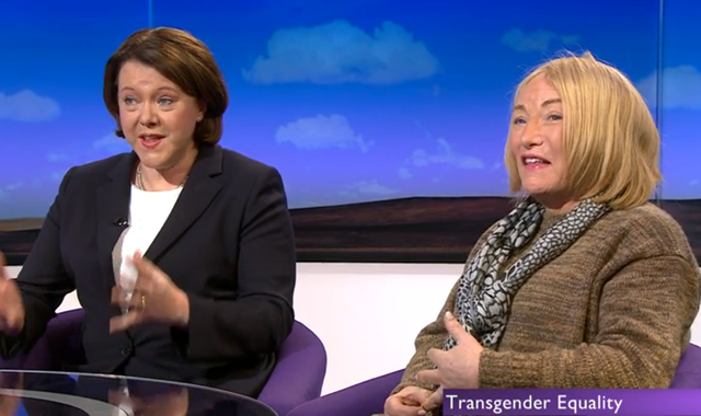 Maria Miller with Kellie Maloney