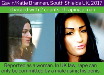 Katie (Gavin) Brannen, transgender rapist. Most transgender women have a working penis - FairPlayForWomen.com