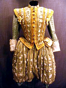 Upper-class Elizabethan man's outfit, c. 1600