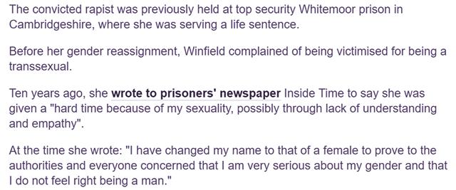 Misgendering Double Rapist Martin Ponting: Pink News - fairplayforwomen.com