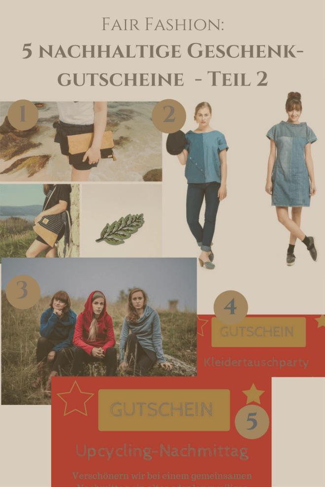 Fair Fashion: 5 nachhaltige Geschenkgutscheine für faire Mode
