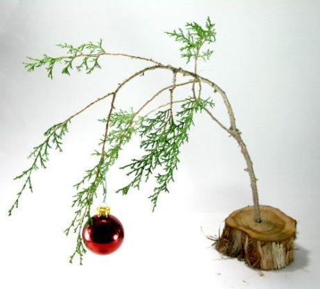http://www.instructables.com/id/Make-a-Charlie-Brown-Christmas-Tree/