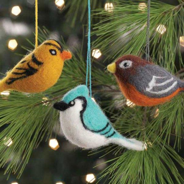 Felted Hanging Bird Set